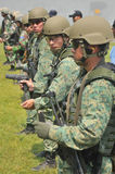 Republik Singapurs-Marine der Übungs-Marinetaucheinheits-(NDU) (RSN) und TNI-AL Kopaska stockbilder