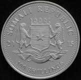 Republik Somalia-Silbermünze Lizenzfreie Stockfotos