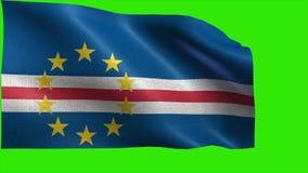 Republik von Cabo Verde, Flagge von Kap-Verde - nahtlose SCHLEIFE vektor abbildung