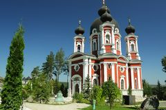 Republik von Moldau, Curchi-Kloster, alte Bell Lizenzfreie Stockbilder