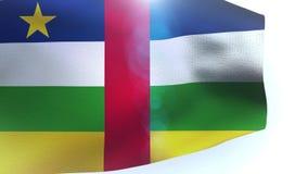 Republik Zentralafrika fahnenschwenkend im Wind stock footage