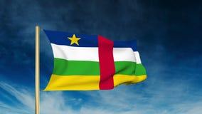 Republik- Zentralafrikaflaggenschieberart waving stock footage