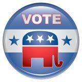 republikański guzika głosowanie Fotografia Stock