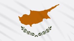 Republika Cypr flagi falowania tło, pętla ilustracji