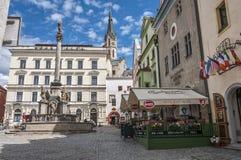 Republika Czech, Cesky Krumlov Historyczny centrum miasto zdjęcie royalty free