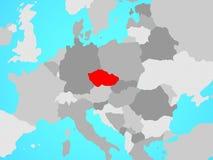 Republika Czech na mapie ilustracji