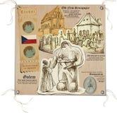 Republika Czech - obrazki życie, Mistyczny Praga Obraz Stock