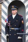 REPUBLIKA CZECH PRAGA, PAŹDZIERNIK, - 02, 2017: Przy 12 południem, ewentualnym oglądać specjalną ceremonię podczas odmieniania Obraz Royalty Free