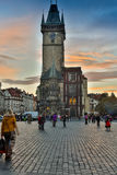 REPUBLIKA CZECH PRAGA, PAŹDZIERNIK, - 02, 2017: Pojawienie cudowny Europejski miasto Praga Stary rynek i Zdjęcie Stock