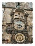 Republika Czech, Praga ulicy Stylizowany sztuki tło obrazy royalty free