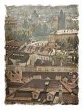 Republika Czech, Praga ulicy Stylizowany sztuki tło fotografia stock