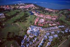 Republika Dominikańska: Airshot od Puerto Plata pola golfowego i obrazy royalty free