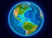 Republika Dominikańska na ziemi Zdjęcia Stock