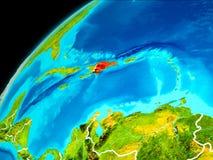 Republika Dominikańska od przestrzeni Fotografia Stock