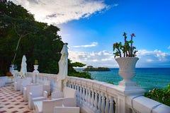 republika dominikańska Widok zatoka Samana, Atlantycki ocean Zdjęcie Stock