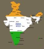 Republika India mapa Zdjęcie Stock