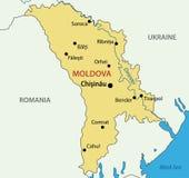 Republika Moldova - wektorowa mapa ilustracji