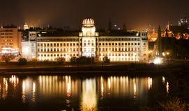 republika Prague czechach nocy zdjęcie royalty free