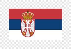 Republika Serbia - flaga państowowa royalty ilustracja
