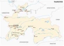 Republika Tajikistan wektorowa mapa Zdjęcia Royalty Free