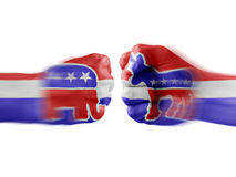 Republikaner Demokraten x stockbilder