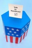 republikaner röstar Royaltyfria Bilder
