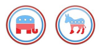 Republikaner und Demokraten Stockbild