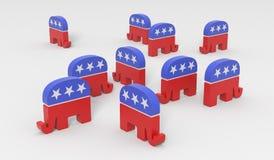 Republikanie beznadziejnie dzielący ilustracji