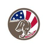 Republikanische Elefant-Maskottchen USA-Flagge Lizenzfreies Stockbild