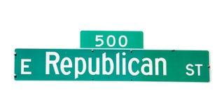 Republikanische Straße Stockfoto