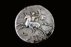 Republikanischer Denarius M.Sergius Silus 116 BC. stockbild