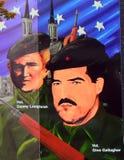 Republikansk väggmålning, Belfast som är nordlig - Irland royaltyfri bild