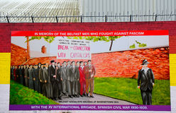 Republikansk väggmålning, Belfast som är nordlig - Irland fotografering för bildbyråer