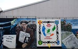 Republikansk väggmålning, Belfast som är nordlig - Irland royaltyfri foto