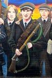 Republikansk väggmålning, Belfast som är nordlig - Irland royaltyfri fotografi
