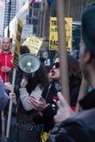 2016 republikanska stor festAnti--trumf protesterar NYC Royaltyfria Bilder