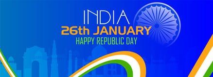RepublikdagIndien beröm på 26 Januari royaltyfri illustrationer