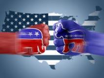 Republikeinen x Democraten Stock Foto's