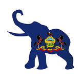 Republikeinse de Olifantsvlag van Pennsylvania Royalty-vrije Stock Fotografie