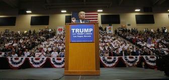 Republikeinse presidentiële campagneverzameling de kandidaat van Donald Trump bij het de Arena & Casino van het Zuidenpunt in Las Stock Afbeelding
