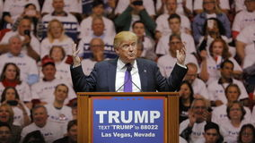 Republikeinse presidentiële campagneverzameling de kandidaat van Donald Trump bij het de Arena & Casino van het Zuidenpunt in Las Royalty-vrije Stock Foto