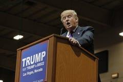 Republikeinse presidentiële campagneverzameling de kandidaat van Donald Trump bij het de Arena & Casino van het Zuidenpunt in Las Stock Foto