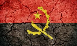 Republiken Angola flagga Arkivbild