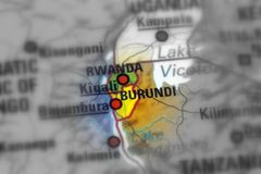 Republiken Burundi arkivbild