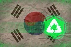Republiken Korea Sydkorea återvinning många begreppsekologibilder mer min portfölj Arkivbild
