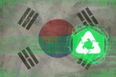 Republiken Korea Sydkorea återvinning många begreppsekologibilder mer min portfölj Fotografering för Bildbyråer