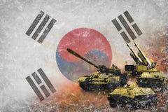 Republiken Korea Sydkorea armé, krigsmakter Arkivbild