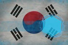 Republiken Korea Sydkorea digital modell Begrepp för modern design Royaltyfri Foto