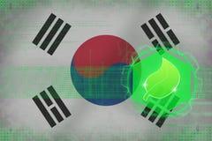 Republiken Korea Sydkorea ekologi Ekologisäkerhetsbegrepp Royaltyfri Bild