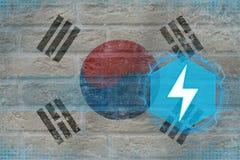 Republiken Korea Sydkorea energetics Elektriskt branschbegrepp Royaltyfria Foton